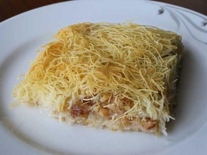 как приготовить рецепт кадаифа с грецкими орехами и фисташками из бирмы